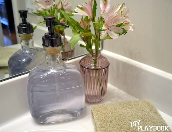 Whiskey Bottle Soap Dispenser
