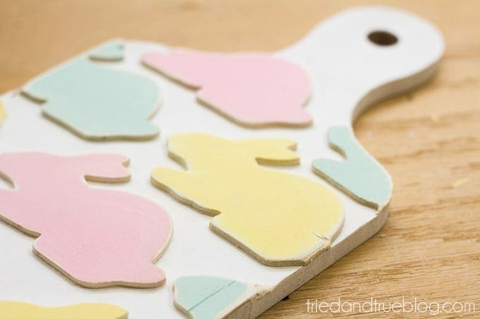 Easy Decorative Bunny Bread Board