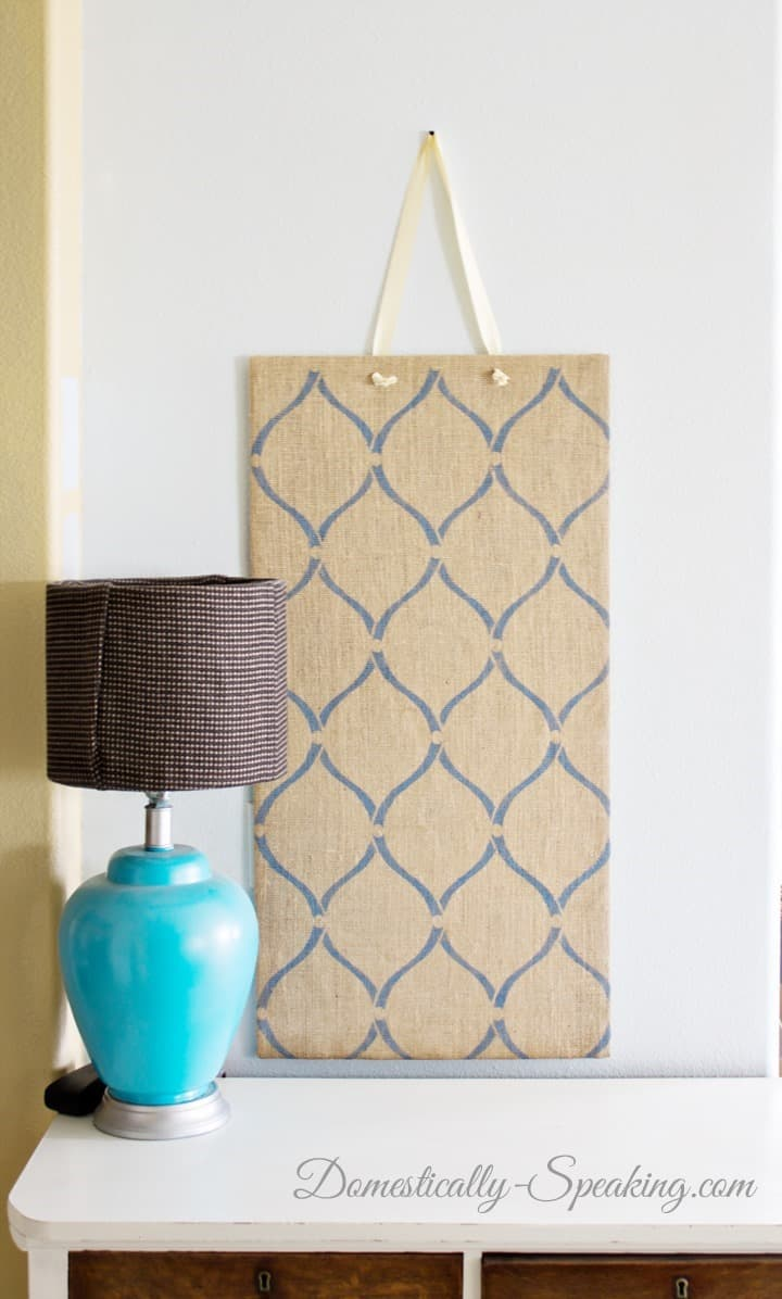 Magnet Burlap Board 23 DIY Projects with