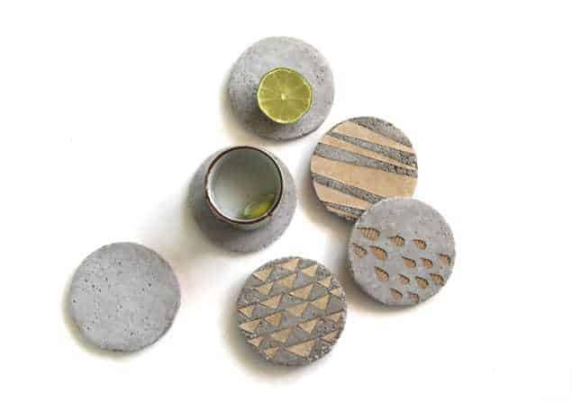Decorative DIY Concrete Coasters