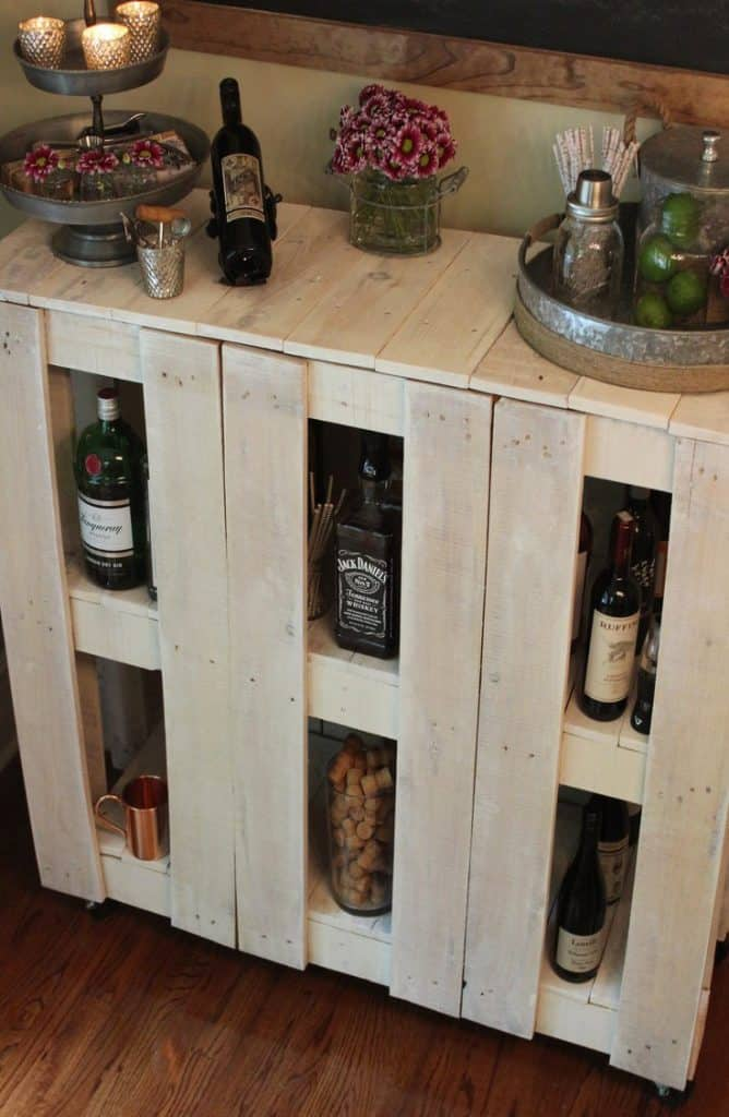 DIY Pallet Bar Cart