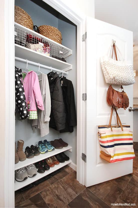 DIY Organization Entry Closet