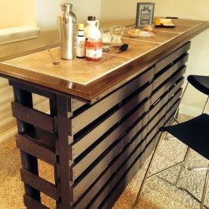 Affordable Indoor Pallet Bar