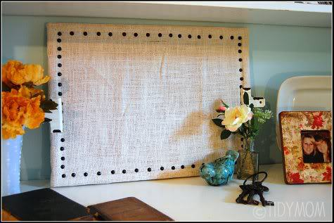 Burlap Bulletin Board Project