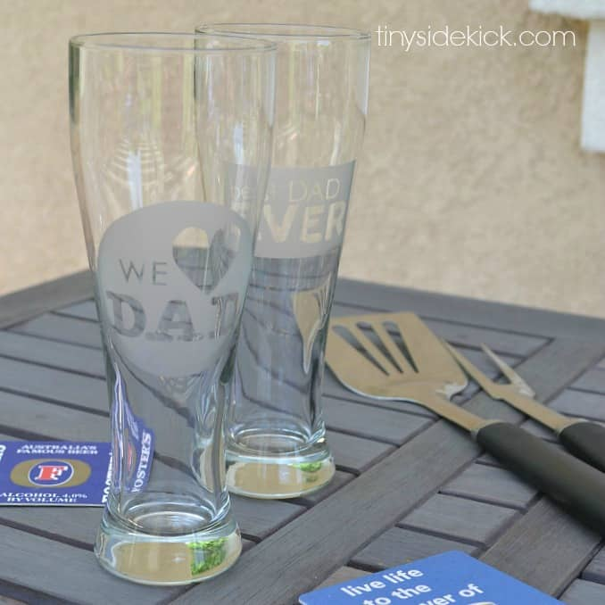 Etched Glass DIY Gift