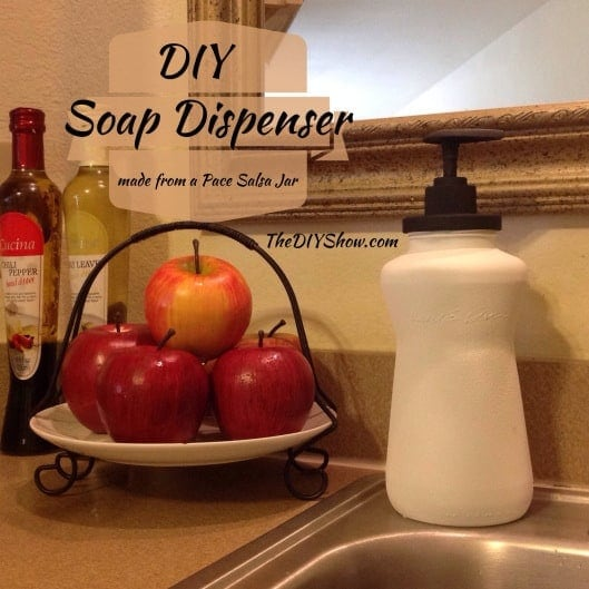 Picante Jar Turned Soap Dispenser