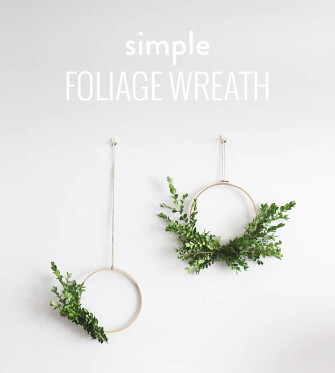 DIY Wall Wreath With Foliage