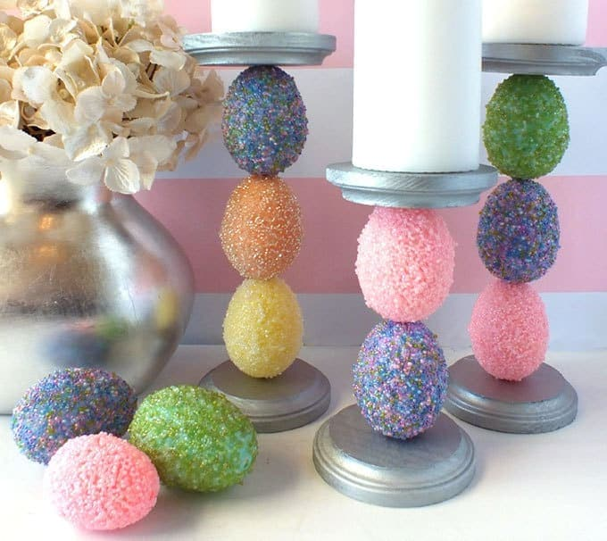 Stylish Easter Candle Holders