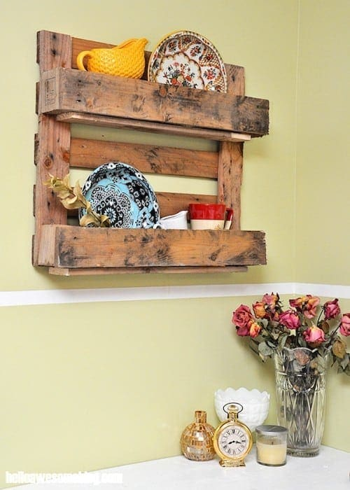 Display Wood Pallet Shelf