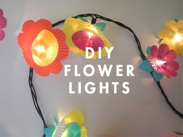 DIY Flower Twinkle Lights