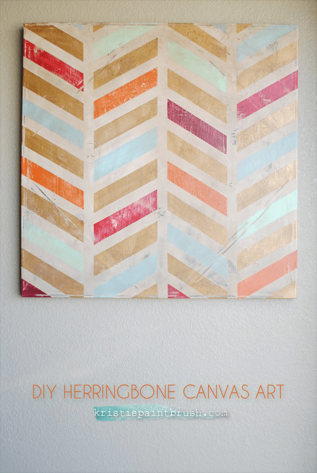 Make Your Own Herringbone Art