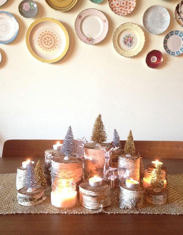 DIY Rustic Holiday Centerpiece