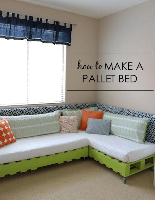 Kid's Pallet Bed on Wheels