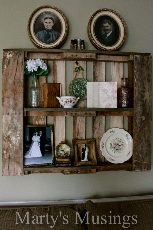 Shabby Chic Display Pallet Shelves