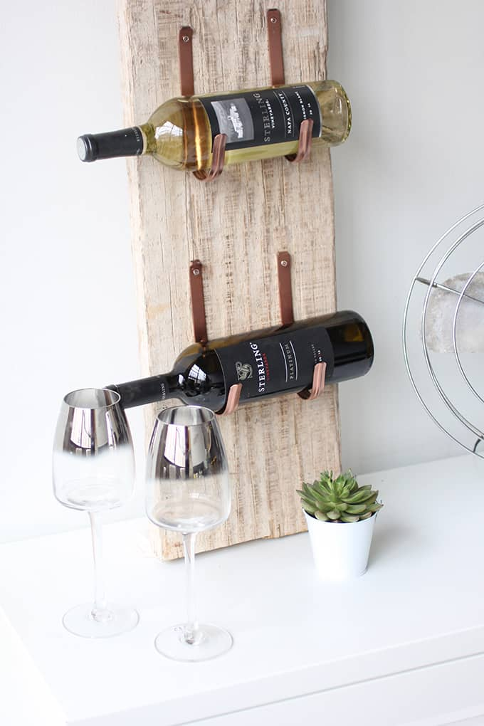 DIY Wine Rack Made Out Of Barnwood