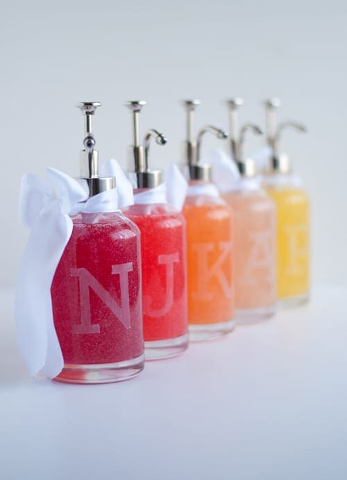 DIY Etched Glass Soap Bottle
