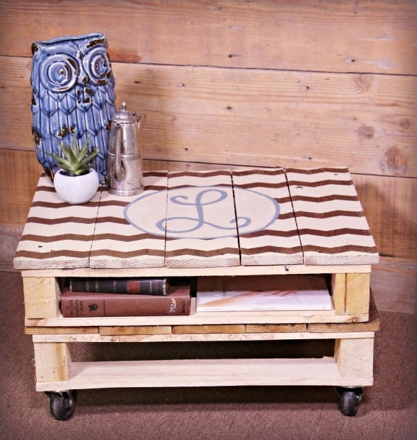 Pallet Coffee Table On A Dime