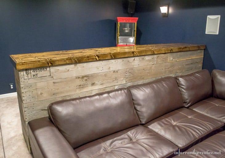 Man Cave Pallet Bar