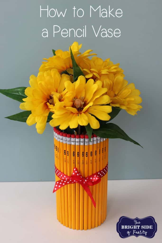 Pencil Flower Vase for Teacher Appreciation