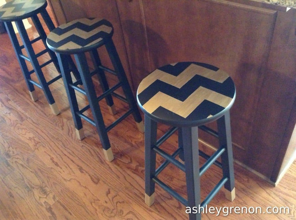 Simple Chevron Stools