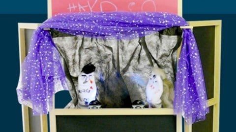 Homemade Puppet Theater For Kids