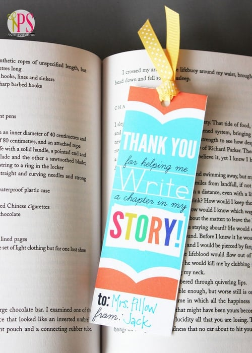 Teacher Bookmark DIY Gift