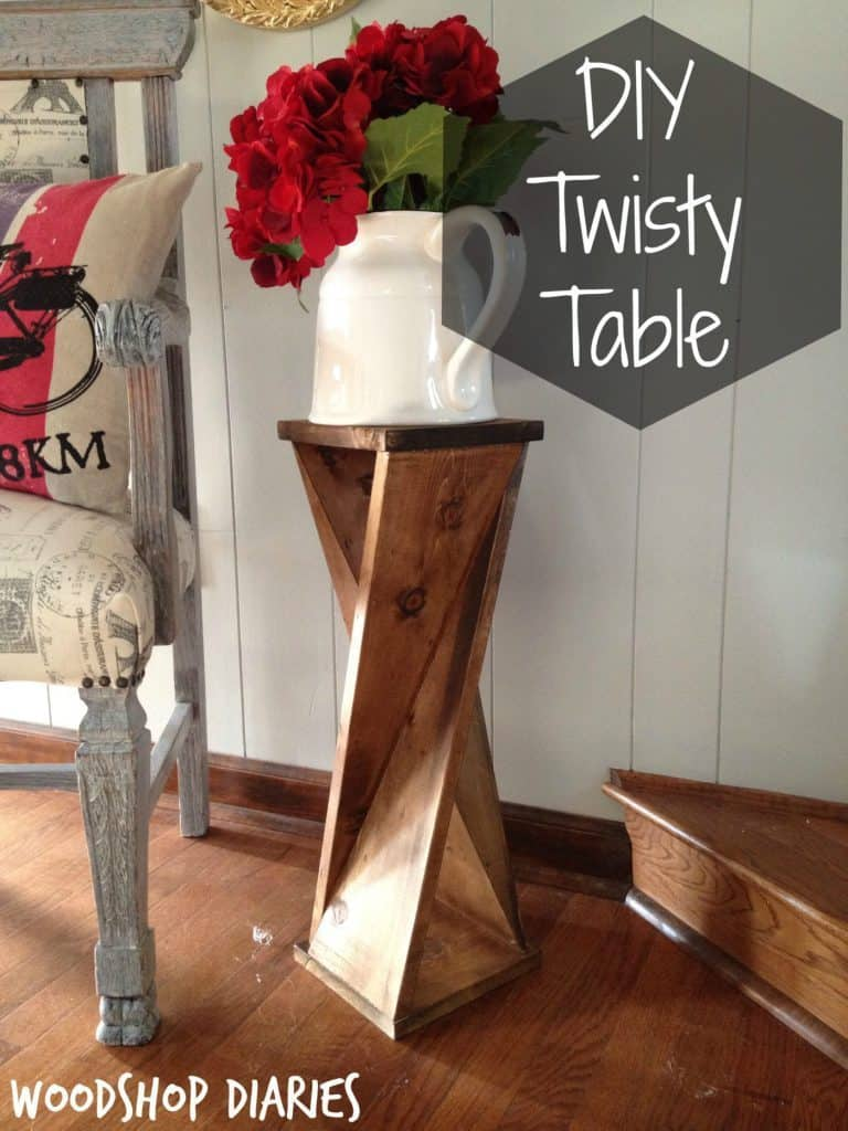 Twisted Wood Table