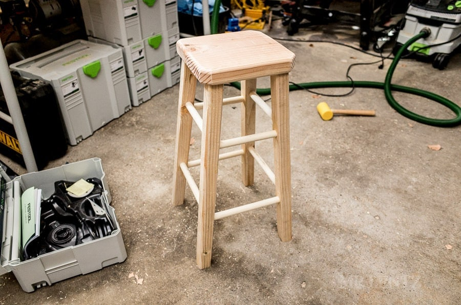DIY Wooden Barstool