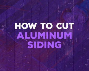 how to cut aluminum siding