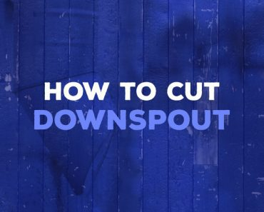 how to cut downspout