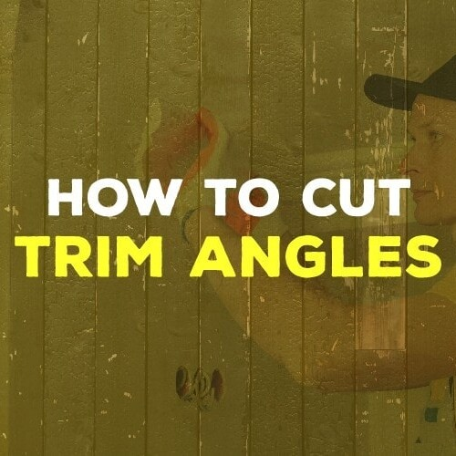 how to cut trim angles