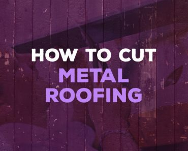 how to cut metal roofing