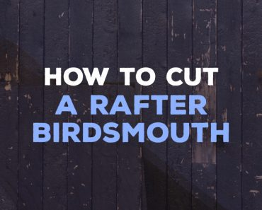 how to cut a rafter birdsmouth
