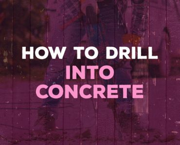 how to drill into concrete