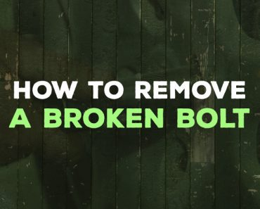 how to remove a broken bolt