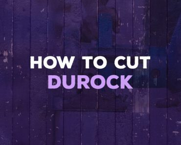 how to cut durock
