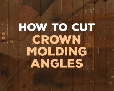 how to cut crown molding angles