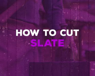 how to cut slate