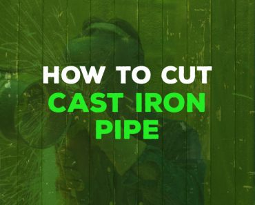 how to cut cast iron pipe