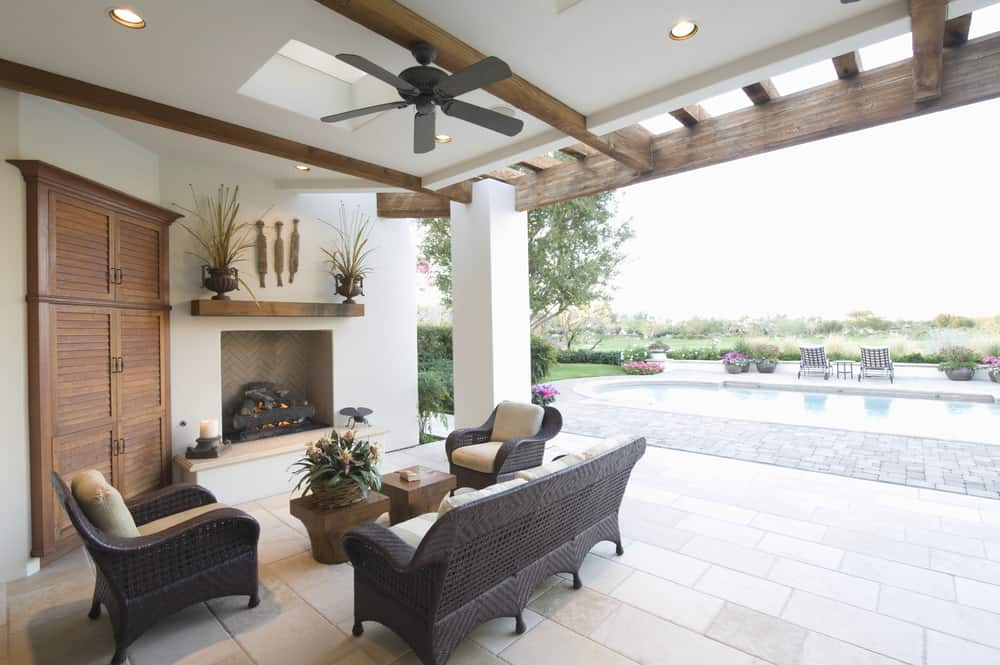 white stucco indoor outdoor