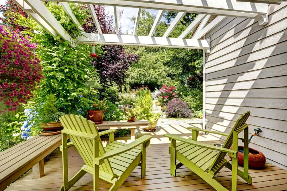 light wood deck