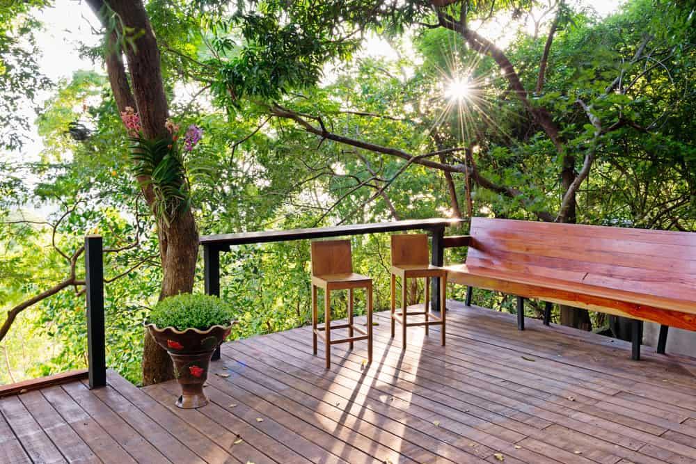 raised deck bar stools bench