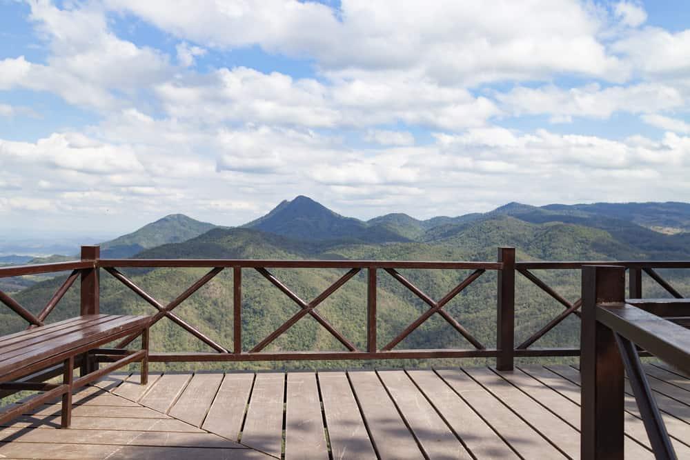 western style x railing