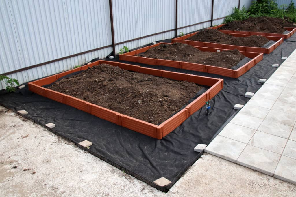 skirted raised garden