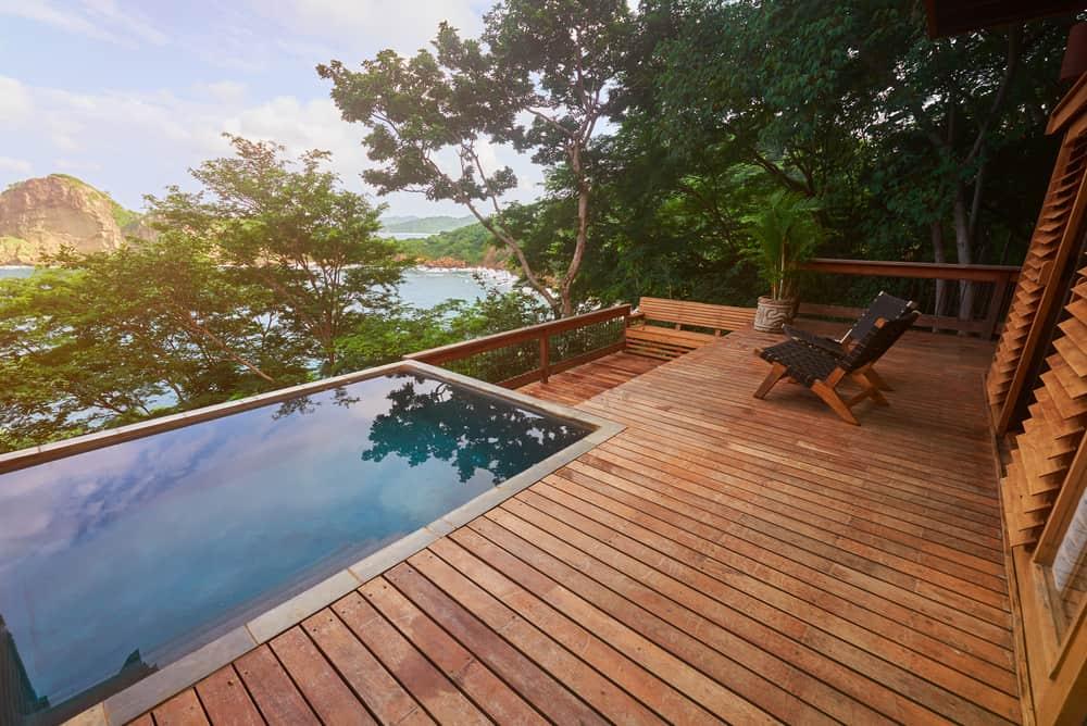 inset pool simple furnishings