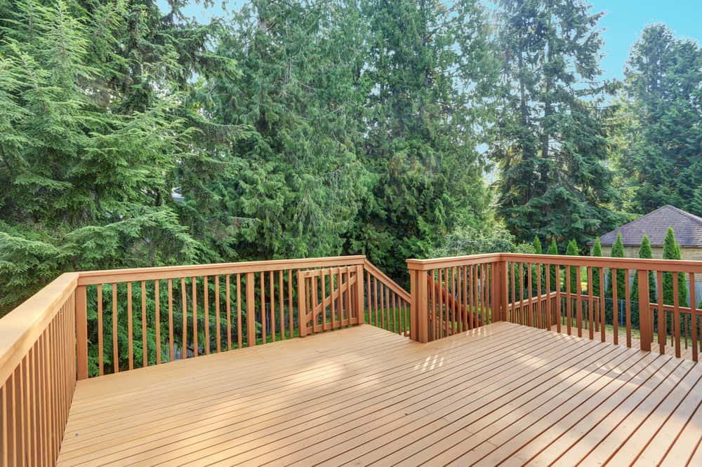 multi level wood deck
