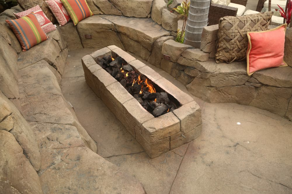 long rectangle firepit