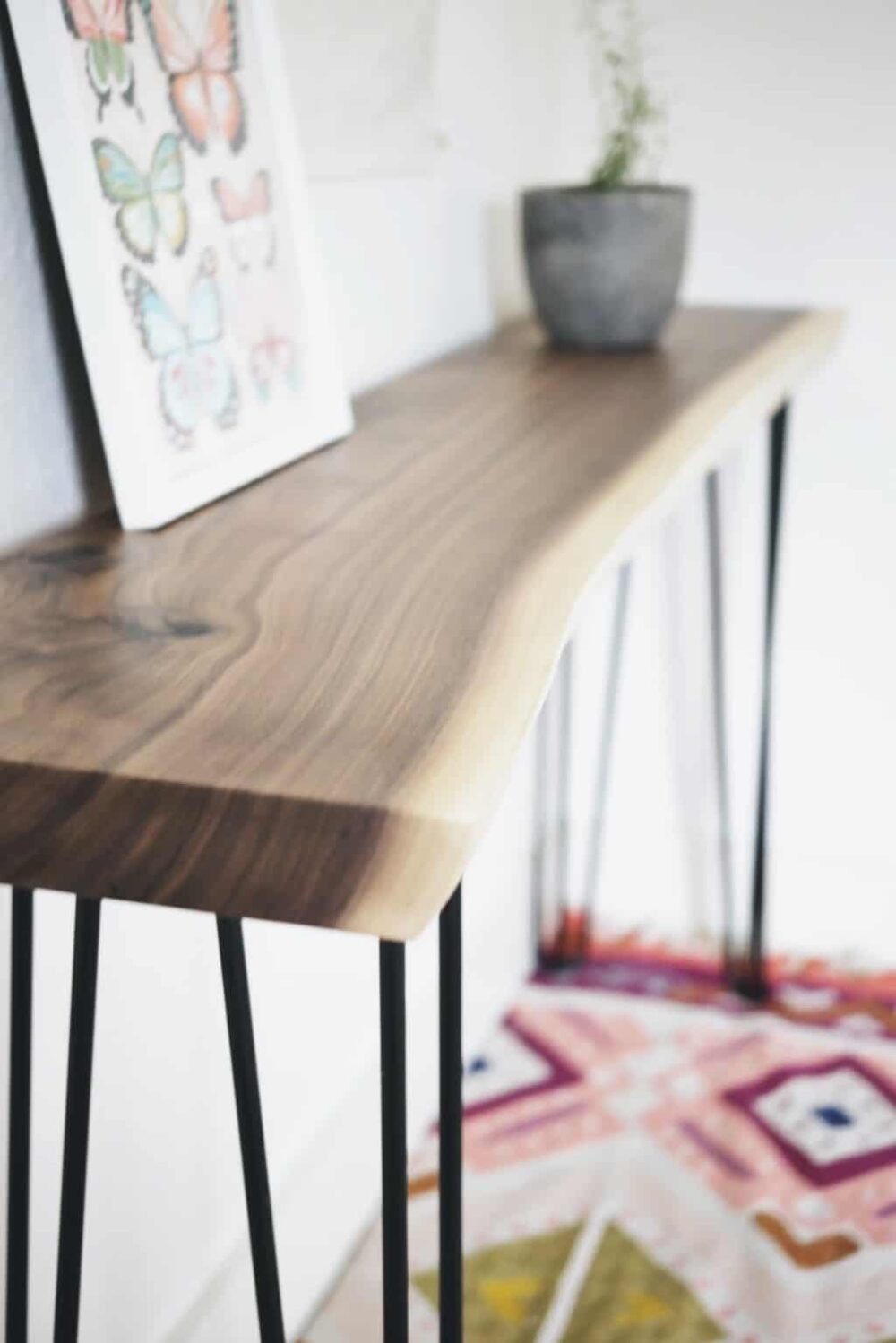 Live Edge DIY Console Table Kit