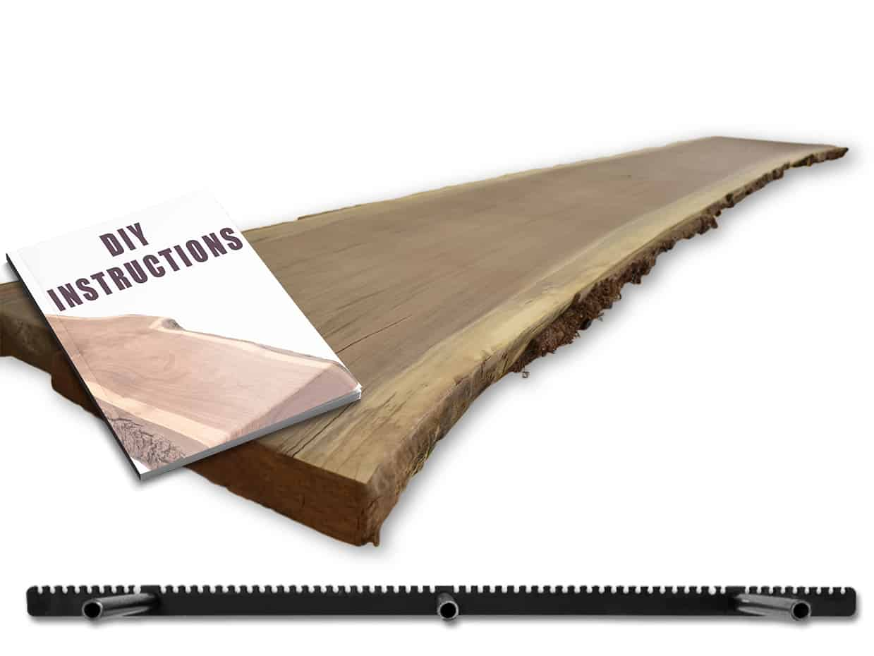 build your own live edge floating shelf diy woodworking 36 x 12 kit