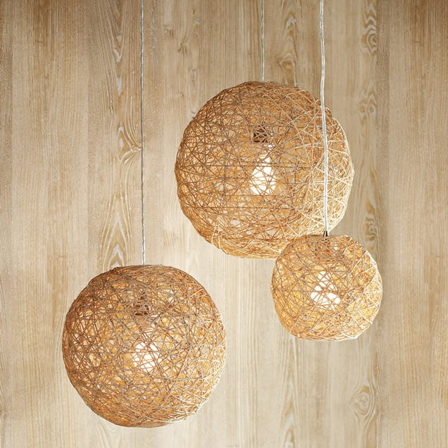 Twine Ball Lamp Transform bouncy balls into a twine ball lamp that are stylish and charming. These hanging lamps would be great for your office, home, or outdoor living space. thesawguy.com